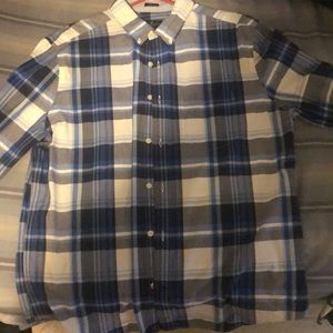 Plaid American eagle button down long sleeve shirt
